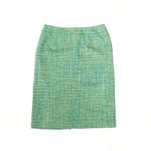 Pendleton turquoise high waist tweed pencil skirt
